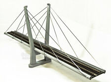 "O Scale 40"" GCS Cable Stay Suspension Train Bridge Kit"