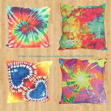 US SELLER - pillow cover wholesale 4pcs tie dye butterfly heart cushion cover