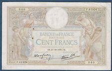 FRANCE - 100 FRANCS L.O MERSON Fay n° 25. 33 du 27-10-1938. en TTB  F.61926 040