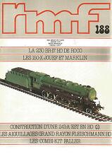 RMF N° 188 230 BR-17 HO / 150-X JOUEF ET MARKLIN / 241-A EST EN HO / AIGUILLAGES