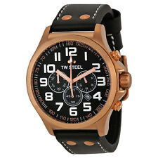 TW Steel Pilot Chronograph Rose Gold PVD Mens Watch TW418