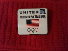 """United Airlines Olympic Pin """"Proud to Fly Team USA"""" 2014"""