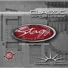 Stagg CLNTAL Nylon Plateado Herida Set Angel Lopez Clásica Cuerdas de Guitarra