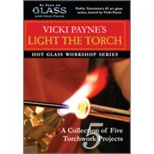 GLASS WITH VICKI PAYNE LIGHT THE TORCH BEADMAKING INSTRUCTIONAL DVD BEAD MAKING
