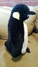 """Penguin Plush Stuffed Animal Toy 16"""" Christmas gift collectible black,white EUC"""