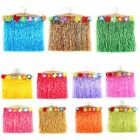 Kids Baby Hawaiian Costume Hula Grass Skirt Flower Wristband Party Dress Skirt