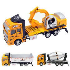 1:48 Diecast Model Pullback Digger Dumper Cement Mixer Farm Truck Kids Toy Gift