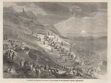 1863 PROCESSION OF KING AND COURT OF MADAGASCAR TO EXECUTION GROUND AMBOHIPOTSI