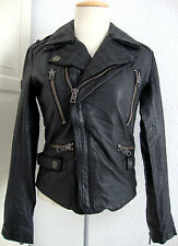 SUPERDRY BIKER JACKET LEATHER Damen Lederjacke Japan Spirit Gr.S NEU mit ETIKETT