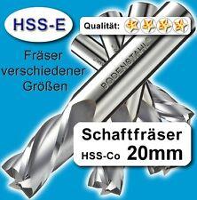 Fräser 20mm 4S.110mm Edelstahl Alu Messing Co-hochlegierte Qualität M35