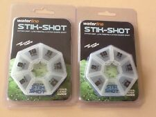 Two Packs Of Waterline. Stik-shot. 6 Division/dispenser. NEW. Fishing Tackle
