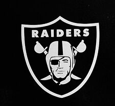 "(2) Oakland Raiders 5"" NFL Football Team Logo Car Window Vinyl Decal Sticker"