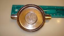 STERLING SILVER MEXICAN  ASHTRAY 1943 UN PESO COIN BOTTOM  47.37 g  MARKED