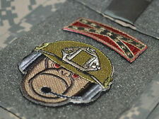 SEAL SPECIAL WARFARE ODA OPERATOR VELCRO SHIELD PATCH: SNOOPY BIPLANE Desert Tan