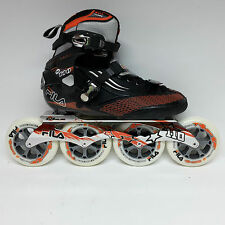 Fila M 110 black/orange Speedskate Marathon Inline Skates 110 mm Rollen Gr. 40