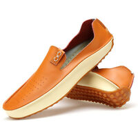 Fashion Casual men Driving Loafers Soft Leather Suede Flats Moccasins Boat Shoes
