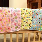 Baby Changing Mat Cartoon Urine Pad Reusable Soft Cotton Change Padded Cushion
