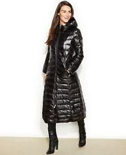 $350 New Calvin Klein Hooded Maxi Down Puffer Coat PM Black