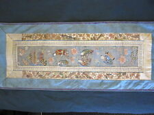 "Antique 19th Century CHINESE EMBROIDERY SILK PANEL 11 3/4"" x 28"" Approx"