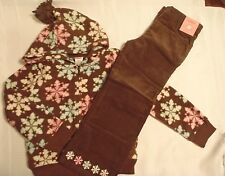 GYMBOREE Girls 5T Brown Corduroy Pant S 5-6 Hoodie Winter Ballerina Outfit NWT