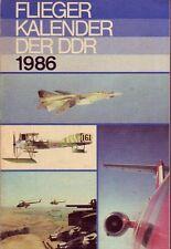 Fliegerkalender der DDR 1986 (inkl. Militärtechnik/Flugzeuge/NVA/DDR)