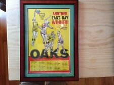 1968 -69 OAKLAND OAKS RICK BARRY SIGNED BROADSIDE