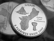 2009 S SILVER GUAM  QUARTER FROM SILVER PROOF SET