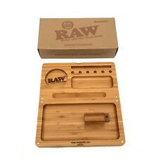 RAW ROLLING PAPERS MAGNETIC BAMBOO BACKFLIP FILLING TRAY *LIMITED EDITION*