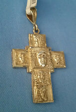 ARTISAN CRAFTED 92.5 STERLING SILVER LARGE HEADED MEN CROSS PENDANT