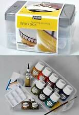 PORCELAINE 150 WORKBOX 45ML PAINT BOTTLES CERAMIC PAINTING SET CHINA PEBEO