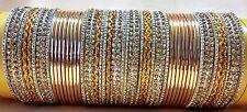 Indian Bollywood traditional Wedding 48pcs bangles Fashion Jewelry size 2.6 2.8