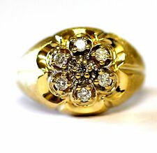 14k yellow gold .42ct diamond ring mens vintage estate 12.4g gents antique