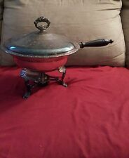 5 PC Vintage Oneida Silver Plate Serving Chafing Dish
