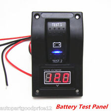 12V RV Car Truck Marine Boat Voltmeter LED Dual Battery Test Panel Rocker Switch