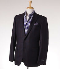 NWT $2395 ERMENEGILDO ZEGNA Teal-Brown Check Wool Sport Coat 38 R 'Fit Milano'