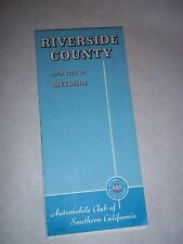 Vtg. Road Map - Riverside County & City of Riverside, Ca. - 1980