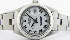 ROLEX - Ladies 26mm 18kt White Gold & SS DateJust White Roman 69174 - SANT BLANC
