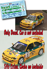 Decal 1:43 Jose Maria Ponce - FORD ESCORT COSWORTH - Rally El Corte Ingles 1993