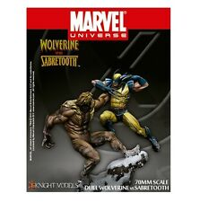 KNIGHT MODELS MARVEL DUEL WOLVERINE VS SABRETOOTH 70MM SERIES METAL NEW