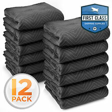 """Ultra Thick Pro Moving Blankets Furniture Pads 12 Pack 72"""" x 80"""" 65 lbs/Dozen"""