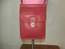 Coach 9930 Vintage Murphy Willis Station Red Leather Shoulder Bag Purse Handbag