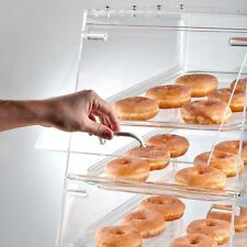 PASTRY SELF SERVE DISPLAY CASE 4 TRAY BAKERY DELI FRONT REAR DOORS DONUT MOVIE