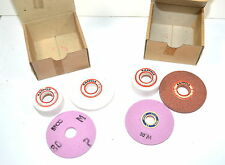 NOS UNIMAT Austria SL DB Lathe GRINDING WHEEL (SET OF 3) No. 1191 #WR14bD1&2