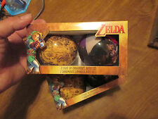 THE LEGEND OF ZELDA 2 LIGHT UP ORNAMENTS  WITH LED SET 2 BALLS NINTENDO RARE