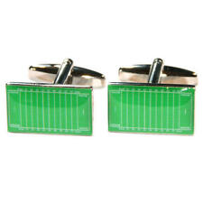 Green American Football Pitch Nfl Cufflinks With Gift Pouch Soccer America New