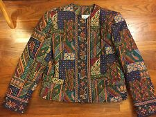 Vera Bradley Quilted Jacket Small S Medley Multicolor Retired Pattern Vintage