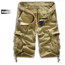Hot Mens Summer Shorts Army Camouflage Combat Camo Cargo Shorts Pants Trousers