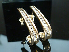 Exquisite 9ct Gold Official 1ct diamond earrings VERY HIGH QUALITY 6 grams