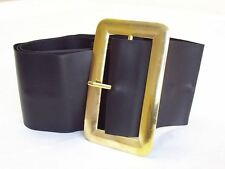 Adult Chunky Pirate Santa Leather Look Black Belt Xmas Fancy Dress Accessory