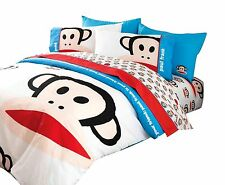 TWIN - Paul Frank Julius & Friends Monkeys on White DECO PILLOW & COMFORTER SET